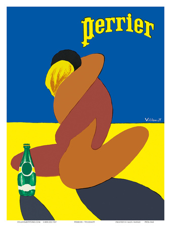 Perrier: Nude Lovers, c.1980 Poster by Bernard Villemot