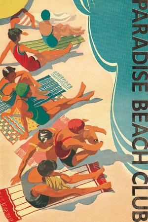 Paradise Beach Club Posters by Hugo Wild