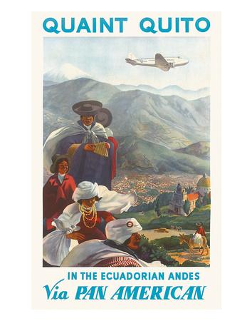 Pan American: Quaint Quito - In the Ecuadorian Andes, c.1938 Giclée-Druck von Paul George Lawler