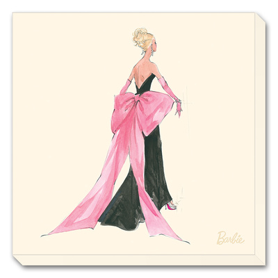 Barbie, Big Pink Bow Reproduction transfre sur toile