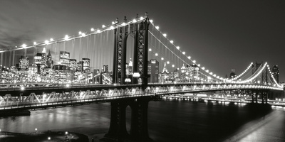 Manhattan Bridge at Twilight Reproduction d'art