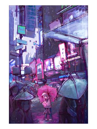 Neo New York Print by Camilla D'Errico