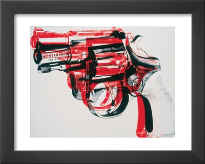 Gun, c.1981-82 (black and red on white) Art by Andy Warhol