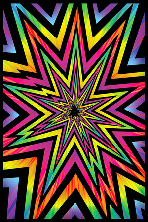 Cosmic Blast Blacklight Poster