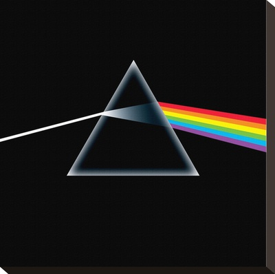 Pink Floyd-Dark Side of the Moon Lærredstryk på blindramme