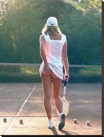 Tennis Girl Stretched Canvas Print