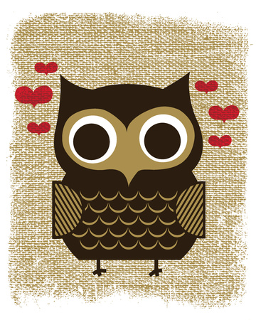 Owl Always Love You Serigrafi