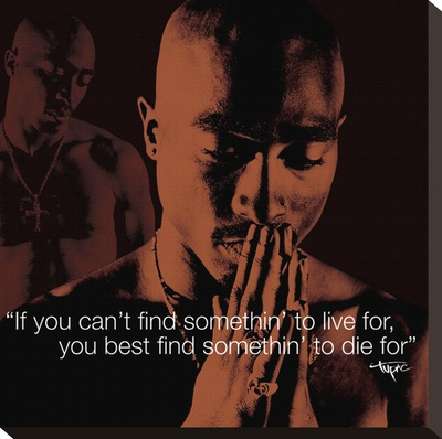 Tupac- i.Quote Stretched Canvas Print