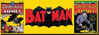 Batman-Triptych Lærredstryk på blindramme
