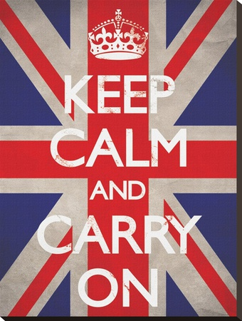 Keep Calm and Carry On-Union Jack Reproducción en lienzo de la lámina