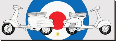 Haynes-Lambretta & Vespa Stretched Canvas Print