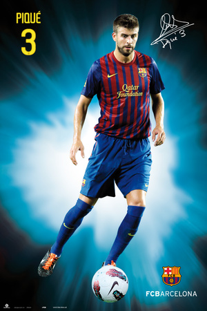 Fc Barcelona - Gerard Pique 2011/2012 Pster