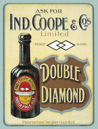 Ind. Coope Double Diamond Tin Sign