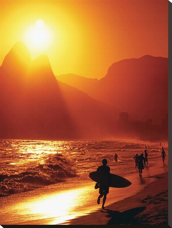 Ipanema Beach Stretched Canvas Print