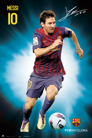 Fc Barcelona - Lionel Messi 2011/2012 Poster