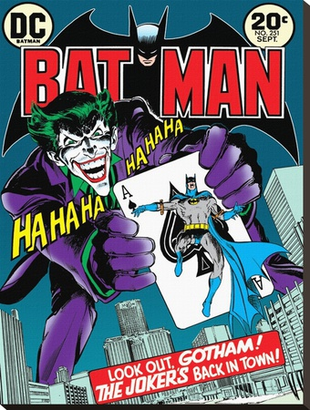 Batman-Joker's Back In Town Stretched Canvas Print