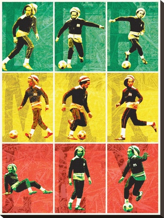 Bob Marley-Football Leinwand