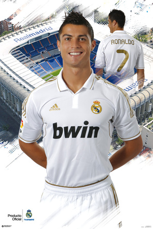 Real Madrid - Cristiano Ronaldo 2011/2012 Plakat
