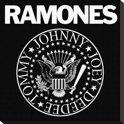 Ramones-Logo Lærredstryk på blindramme