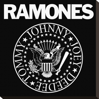 Ramones-Logo Stretched Canvas Print