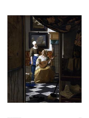 The Love Letter Giclee Print by Jan Vermeer