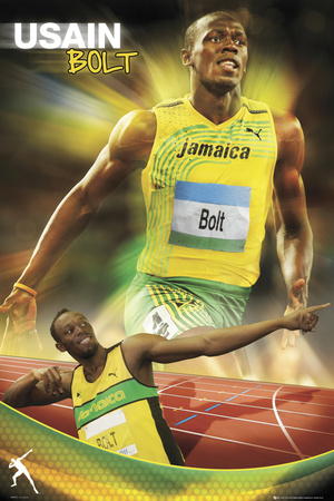 Usain Bolt-Gold Affiche
