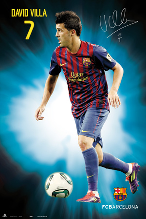 Fc Barcelona - David Villa 2011/2012 Poster
