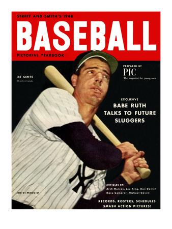 Sporting News Magazine, 1948 - Joe DiMaggio - Babe Ruth Talks To Future Sluggers Foto