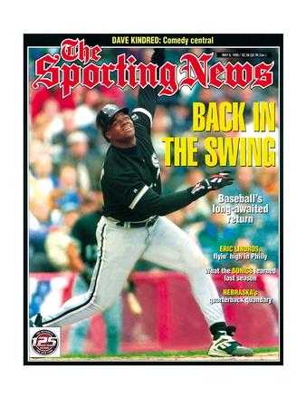 Chicago White Sox 1B Frank Thomas - May 8, 1995 Photo