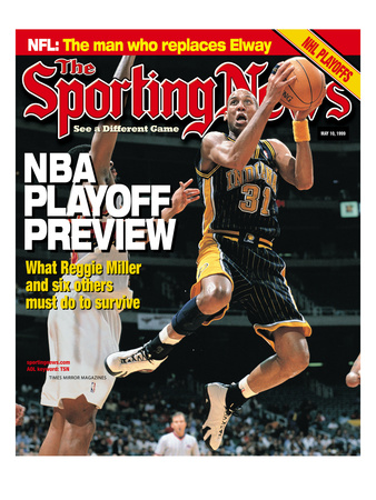 Indiana Pacers' Reggie Miller - May 10, 1999 Photo