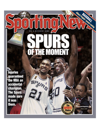 San Antonio Spurs Tim Duncan and David Robinson - 2003 NBA Champs - June 23, 2005 Photo