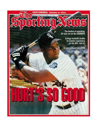 Chicago White Sox 1B Frank Thomas - September 20, 1993 Photo
