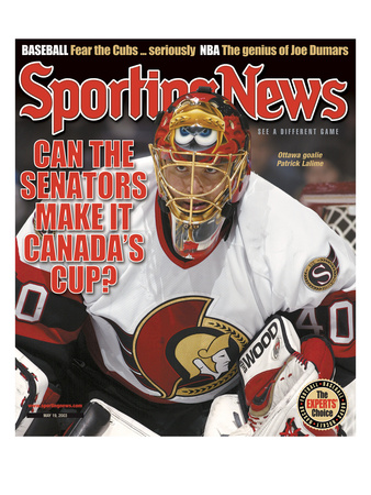 Ottawa Senators Goalie Patrick Lalime - May 19, 2003 Stretched Canvas Print