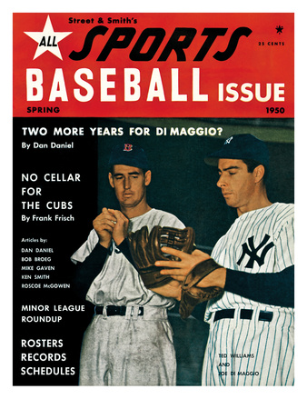 New York's Joe DiMaggio and Boston's Ted Williams - 1950 Street and Smith's Foto