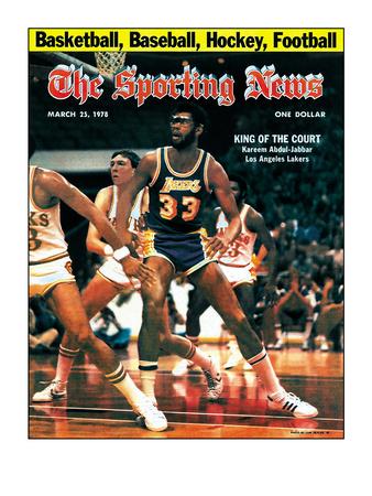 Los Angeles Lakers' Kareem Abdul-Jabbar - March 25, 1978 Foto