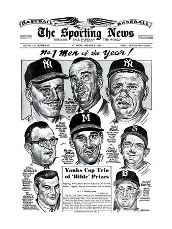 Men of the Year Roger Maris, Warren Spahn, Ralph Houk and more - January 3, 1962 Foto