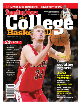 Arizona Wildcats' Chase Budinger - Yearbook - September 7, 2007 Stretched Canvas Print
