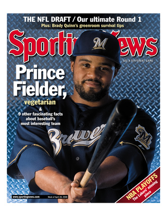 Milwaukee Brewers 1B Prince Fielder - April 28, 2008 Photo