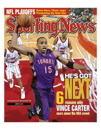 Toronto Raptors' Vince Carter - January 24, 2000 Photo
