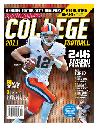 Syracuse Orange QB Ryan Nassib - Yearbook - June 30, 2011 Lærredstryk på blindramme