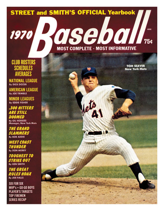 New York Mets Pitcher Tom Seaver - 1970 Street and Smith's Foto
