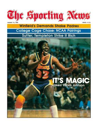 Los Angeles Lakers' Magic Johnson - March 15, 1980 Foto