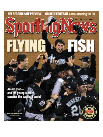 Florida Marlins P Josh Beckett - World Series Champions - November 3, 2003 Photo