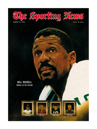Boston Celtics' Bill Russell - March 14, 1970 Photo