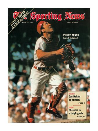 Cincinnati Reds Catcher Johnny Bench - April 18, 1970 Photo