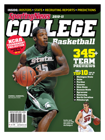 Michigan State Spartans' Durrell Summers - Yearbook - October 6, 2010 Trykk på strukket lerret