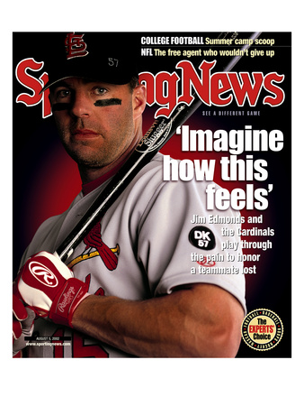 St. Louis Cardinals CF Jim Edmonds - August 5, 2002 Photo