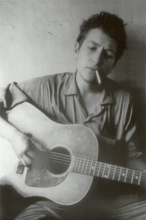 Bob Dylan Cigarette and Guitar Music Poster Print Posters