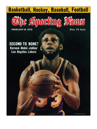 Los Angeles Lakers' Kareem Abdul-Jabbar - February 14, 1976 Foto