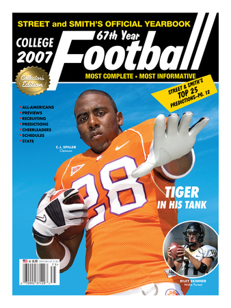 Clemson Tigers RB C.J. Spiller - Yearbook - May 18, 2007 Reproduccin en lienzo de la lmina